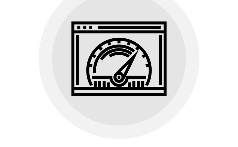 Page Speed icon vector. Flat icon isolated on the white background. Editable EPS file. Vector illustration.